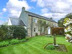 THE OLD FORGE, detached farmhouse, woodburner, open fires, stunning views, gastr
