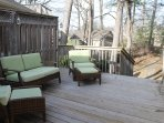 Side deck with direct access to backyard