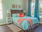 Relax among modern coastal decor in our comfortable queen size bed
