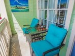 Relax outside with our comfortable patio seating!