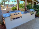 New gas grills for fun cookouts by the pool at Beachside One.