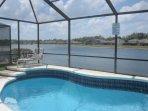 Sunset Vista Lakeside Villa with pool and lake view
