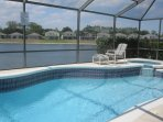 Sunset Vista Lakeside Villa with heated pool, spa and lake view