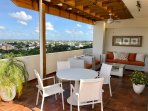 GREAT TERRACE WITH VIEW, OUTDOOR FURNITURES AND BARBECUE