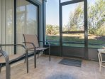 Relax on the screened patio and enjoy the Florida sunshine.