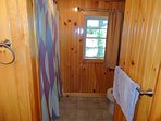 Upstairs bath shared with bedrooms 2,3, & 4. Has a tub/shower combination bath.