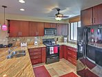 Whip up your favorite home-style dishes in this fully equipped kitchen.