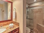 Freshen up in this private ensuite bathroom that lies off the master bedroom.