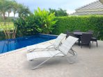 Private pool and outdoor seating