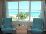 Breathtaking views of the gulf from great room, dining room and master bedroom