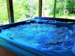 Relaxing hot tub with views