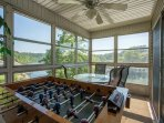 Sunroom with Foosball