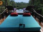 Bedding Arrangement: no bedroom provided. Bedrooms mean bedding set with mosquito net
