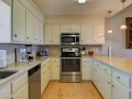 Updated Kitchen with Stainless Steel Appliances!