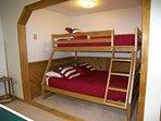 Pyramid Bunk Bed in Rec Room