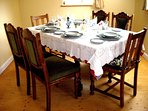 dining table ready for guests