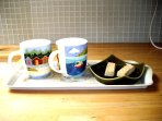 tea for two prepared in the kitchen