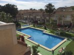 View of large pool from roof terrace