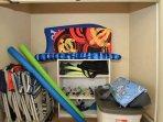 #8-310 Beach chairs, boogie boards, snorkel equipment