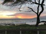 Ocean view at dusk from Kamaole Beach Park III