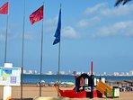 Parque infantil en la playa de Mar de Cristal