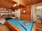 Bunk Beds and Pool Table Downstairs