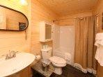 Full Bathroom off Downstairs Den