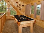 Pool Table in Upstairs Loft