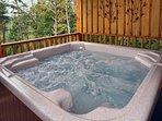 Hot Tub on Private Deck Overlooking Mountain Views
