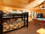 Bunk Beds and Full Bathroom in Loft