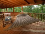 Hammock and Rocking Chairs on Porch