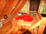 Heart-Shaped Jacuzzi Tub in Loft