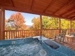 Hot Tub Overlooking Mountain View