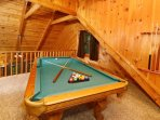 Upstairs Loft with Pool Table