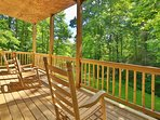 New Lower Deck with Rocking Chairs