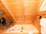 Large Jacuzzi Tub in Upstairs Bathroom