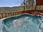 Hot Tub on Private Back Deck Overlooks Mountain Views