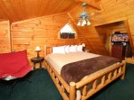 Open Loft Bedroom with King Bed
