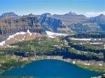 view into Hidden Lake- GNP