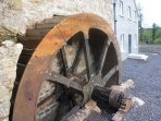 The mill's waterwheel