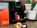 El mas delicioso café espresso, a cualquier hora! Cortesía de la casa.