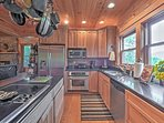 The chef of the group will love the ample counter space and stainless steel appliances.