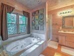 Soak your cares away in the jetted tub.