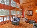 Experience The Black Hills like never before from this 3-bedroom, 2-bath vacation rental cabin that comfortably sleeps...