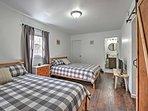 The final bedroom is home to 2 comfy queen beds.