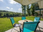 Patio right by Lake Taneycomo!