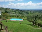 Fiordaliso House  garden & pool with view