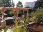 Beautiful gardens by hot tub