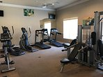 The clubhouse gym will keep you in shape