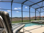 The pool offers privacy and is not overlooked at the rear